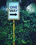 Znak na sposobie Fotografia Royalty Free