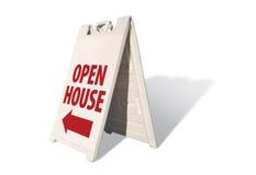 znak namiot domu otwartego Zdjęcie Royalty Free