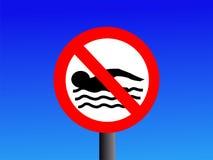 znak nie pływa ilustracji