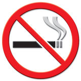 znak nie palić Zdjęcie Royalty Free