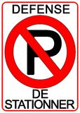 znak nie parkować Obrazy Royalty Free