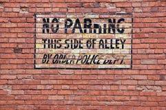 znak nie parkować Obraz Stock