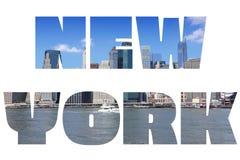 znak nowego Jorku Zdjęcia Royalty Free