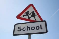 znak ostrożności szkoły Zdjęcie Royalty Free