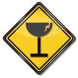 Znak ostrzegawczy ewentualny szklany złamanie ilustracji