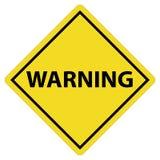 Znak ostrzegawczy na białym tle ostrzegawczy symbol Obrazy Royalty Free