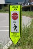 Znak ostrzegawczy na drodze Obrazy Royalty Free