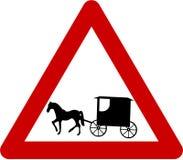 Znak ostrzegawczy z barouche Zdjęcie Stock