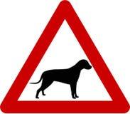 Znak ostrzegawczy z psem Obraz Stock
