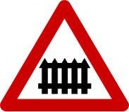 Znak ostrzegawczy z równym skrzyżowaniem Obraz Stock