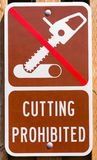 Znak ostrzegawczy zabrania ciąć Obrazy Stock