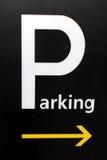 znak parkować Zdjęcie Royalty Free