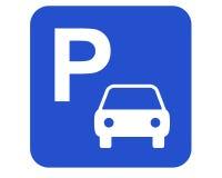 znak parkować Fotografia Royalty Free