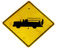 znak pożarnicza ciężarówka Zdjęcie Stock