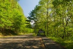 Znak, pogórza Parkway, wschód TN Zdjęcia Royalty Free