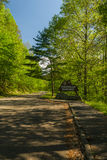 Znak, pogórza Parkway, wschód TN Obraz Royalty Free