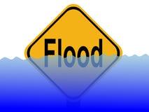 znak powódź wody Zdjęcia Stock