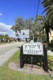 Znak Powitalny Deerfield plaża Zdjęcia Stock