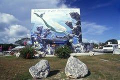 Znak powitalny, Kluczowy Largo, FL obrazy stock