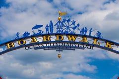 Znak Powitalny przy oceanu miasta MD Zdjęcie Stock