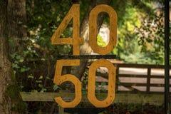 Znak: Prędkości ograniczenie 40 50 zdjęcie royalty free