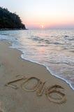 Znak przy plażą Zdjęcie Stock