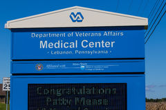 Znak przy VA centrum medycznym Fotografia Royalty Free