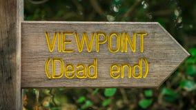 Znak: Punkt widzenia martwy koniec obraz stock