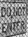 znak rdzewiejący Fotografia Stock