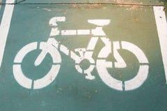 Znak rowerowy pas ruchu Obraz Royalty Free