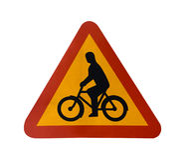 znak roweru Obraz Royalty Free