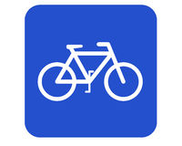 znak roweru Obrazy Royalty Free
