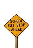 znak stop autobusu Fotografia Royalty Free