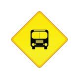 znak stop autobusu Zdjęcia Royalty Free