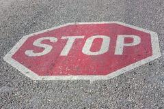 znak stop chodniku Obraz Stock