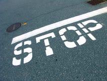 znak stop ruchu Obraz Stock