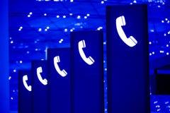 znak telefon Zdjęcia Stock