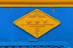 Znak TEP 10 strzała â€' pasażerska lokomotywa z ele Fotografia Royalty Free