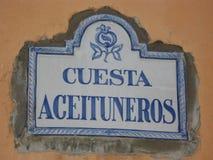 Znak uliczny zdjęcie royalty free