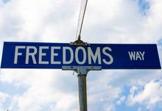 Znak uliczny dla wolność sposobu obraz stock