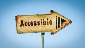 Znak Uliczny Dostępny obraz stock