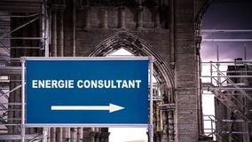 Znak Uliczny energii konsultant royalty ilustracja