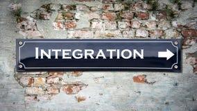 Znak Uliczny integracja obraz royalty free