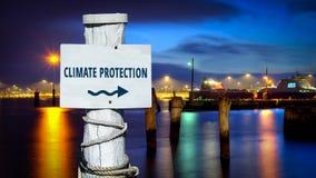 Znak Uliczny klimat ochrona royalty ilustracja