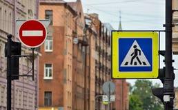 Znak uliczny lub drogowy znak Fotografia Stock