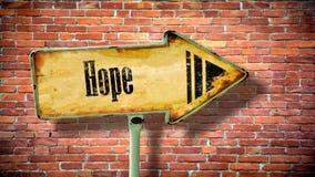 Znak Uliczny Mieć_nadzieja ilustracji