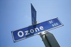 Znak Uliczny - Ozon Ulica Obrazy Royalty Free