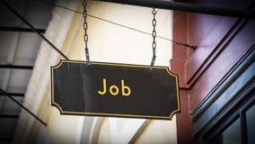Znak Uliczny praca zdjęcie stock