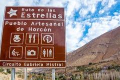 Znak Uliczny w Chile Zdjęcie Royalty Free