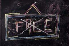 Znak Uwalnia Zdjęcie Royalty Free